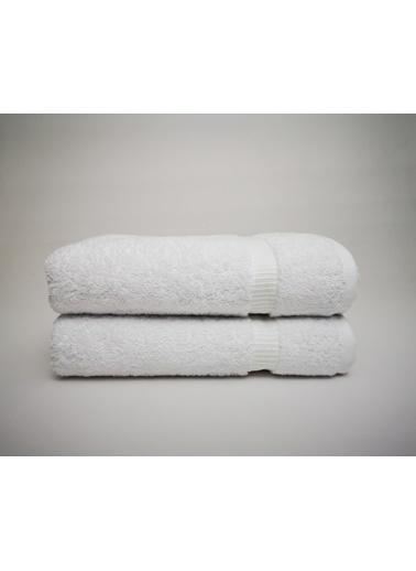 home-bath 2'li Lüks Gramajlı Havlu Seti-Beyaz Beyaz
